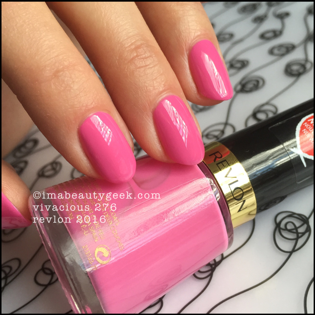 Revlon 2016 nail polish swatches and review beautygeeks revlon nail polish 2016revlon vivacious 276 nail enamel nvjuhfo Image collections