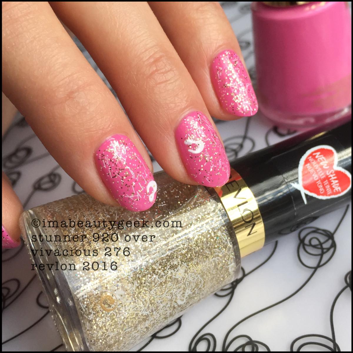 Revlon Nail Polish 2016_Revlon Stunner 920 Nail Enamel over Vivacious 276