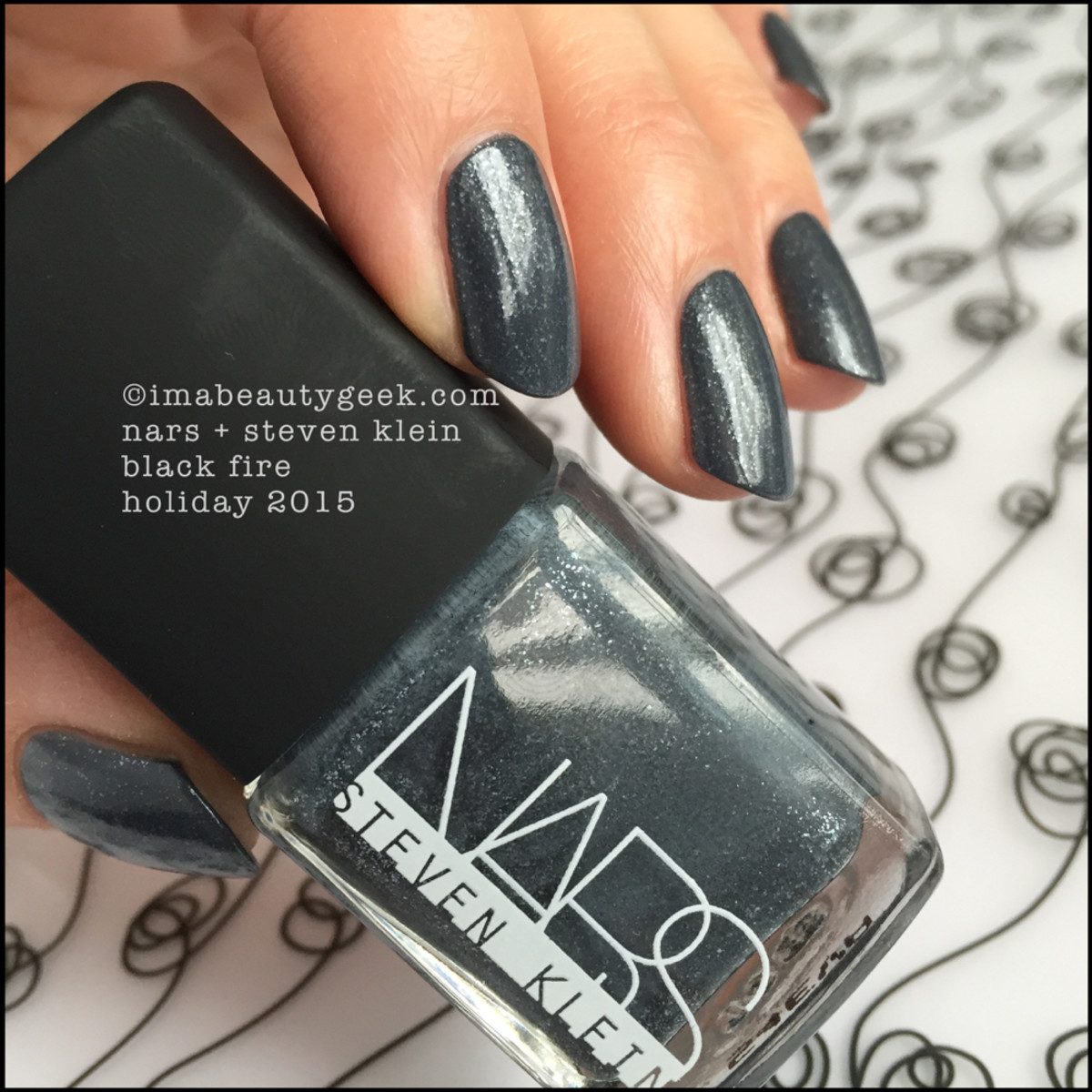 NARS Steven Klein Holiday 2015_NARS Black Fire Nail Polish