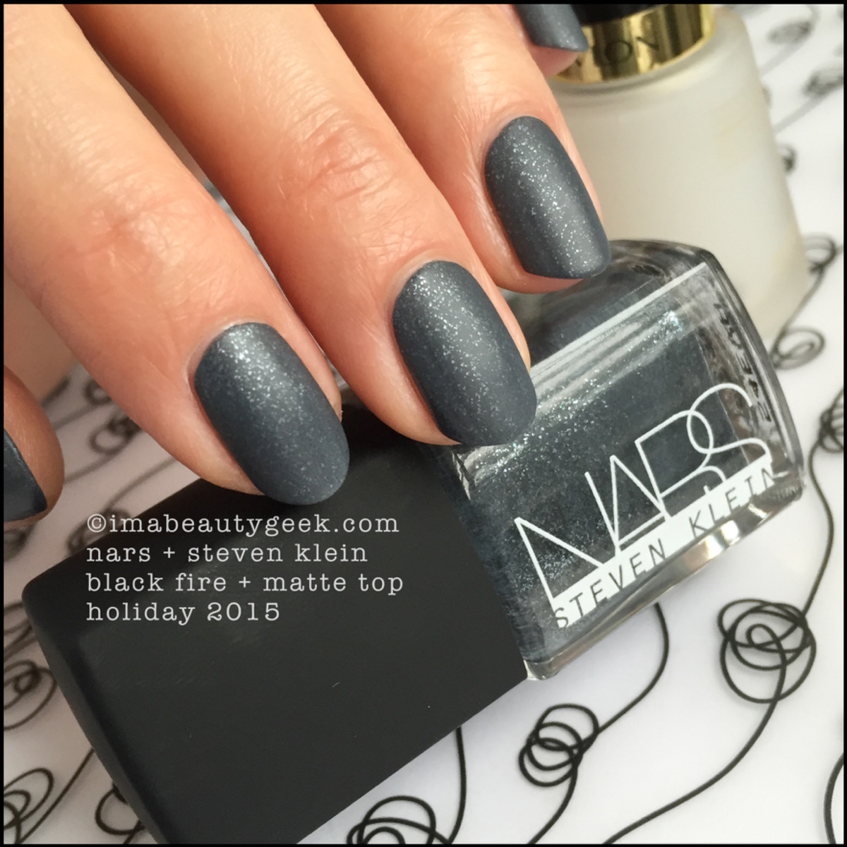 Nars Black Fire Nail Polish Matte_Nars Steven Klein Holiday 2015