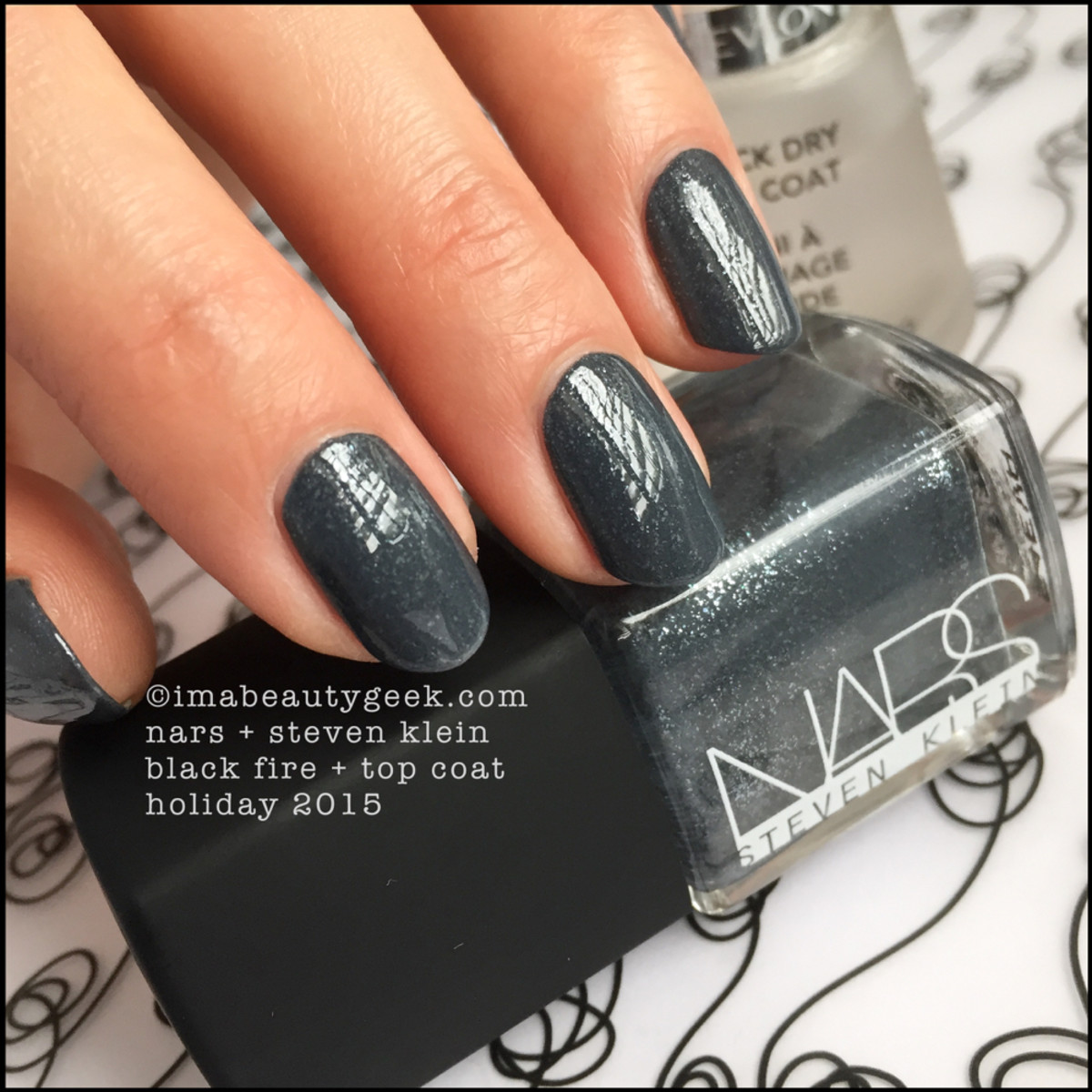 Nars Black Fire Nail Polish Top Coat_Nars Steven Klein Holiday 2015