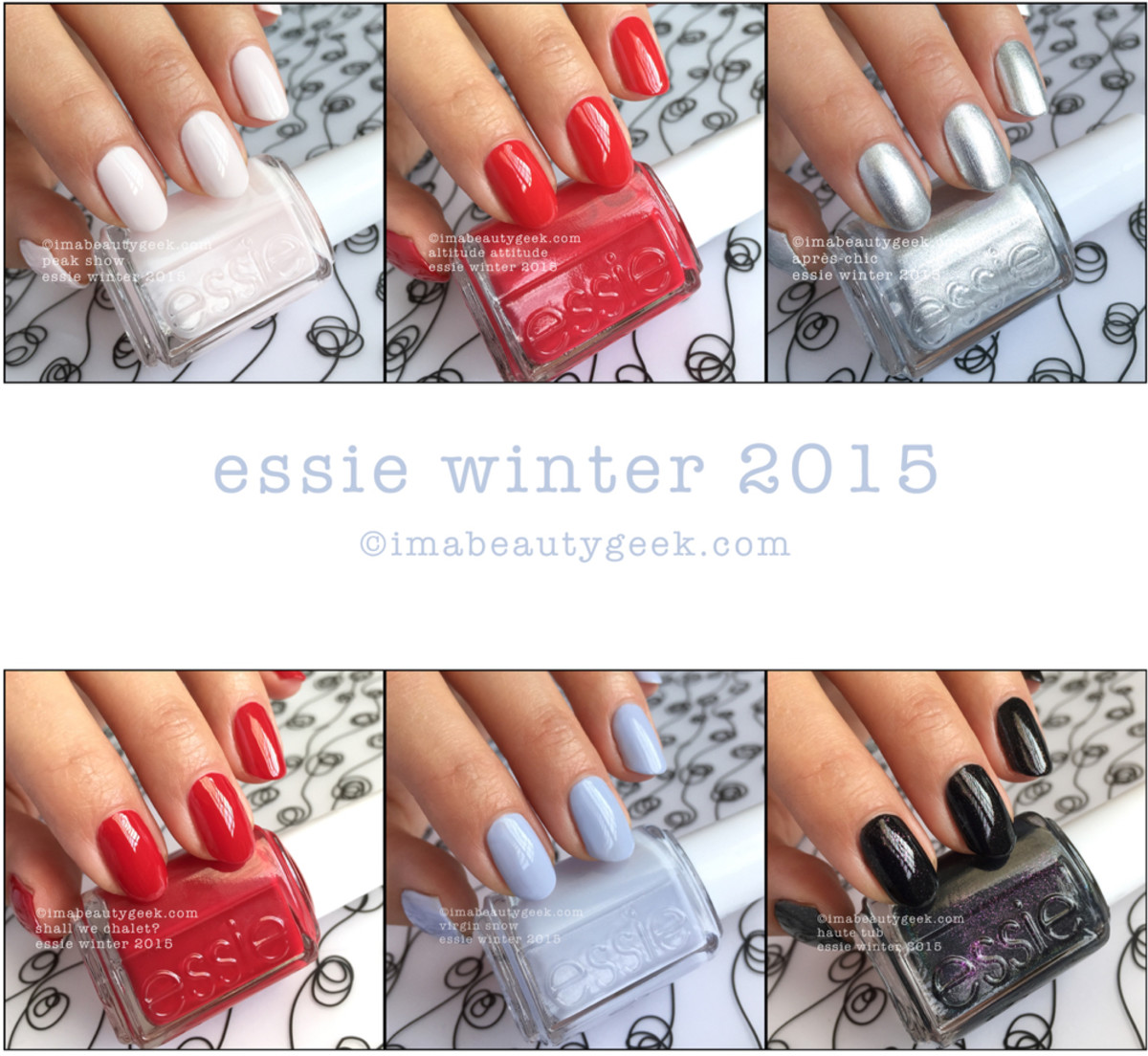 Essie Winter 2015 Swatches and Review Beautgyeeks