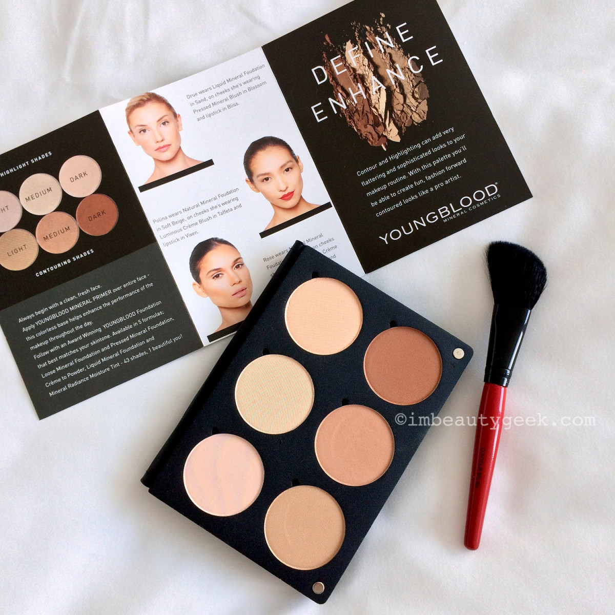 Youngblood Contour Palette_Smashbox mini angle face brush