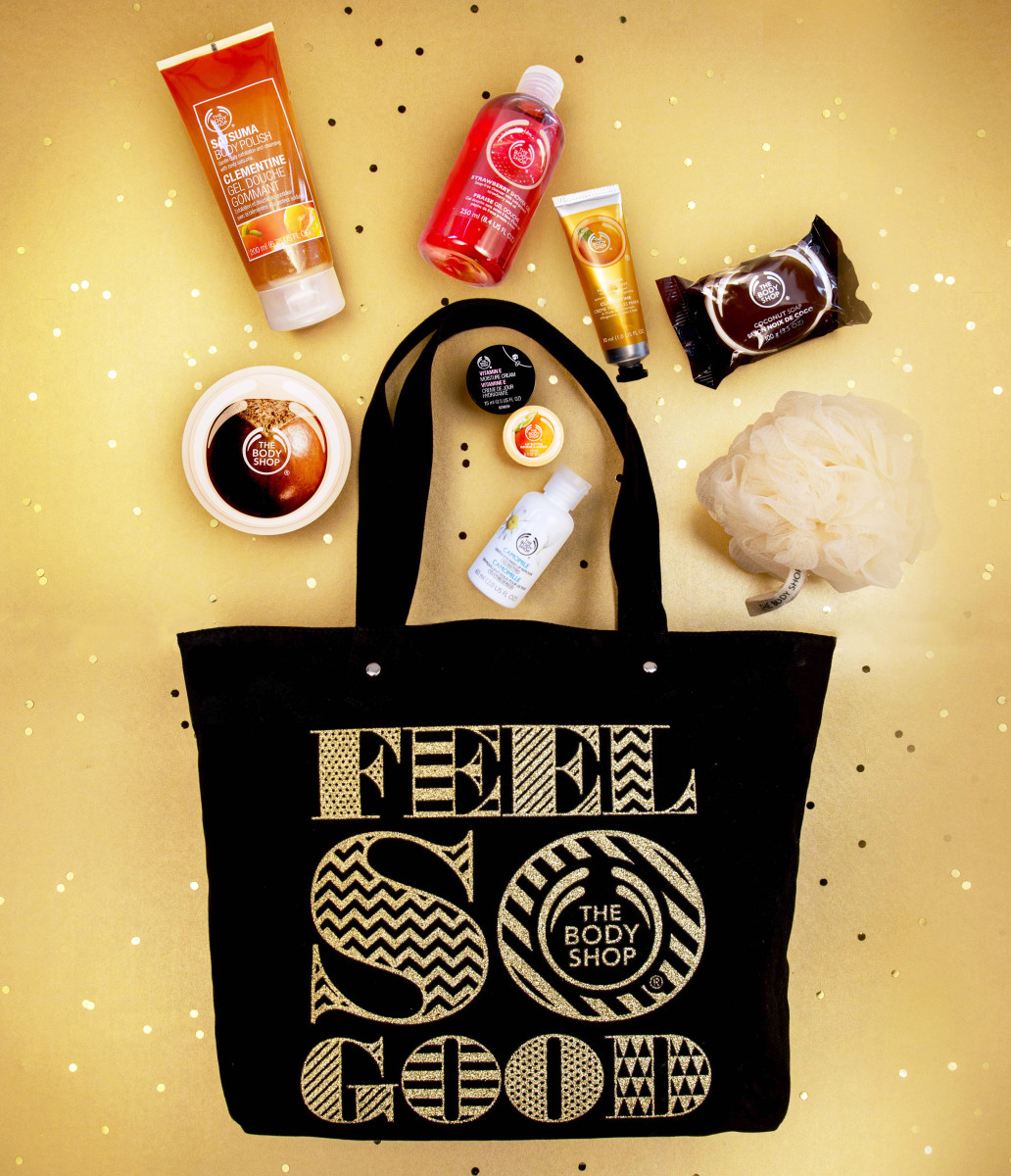 Enter to win this Feel So Good Black-Friday tote + treats from The Body Shop Canada! Open to Canadian residents – please see entry form below!