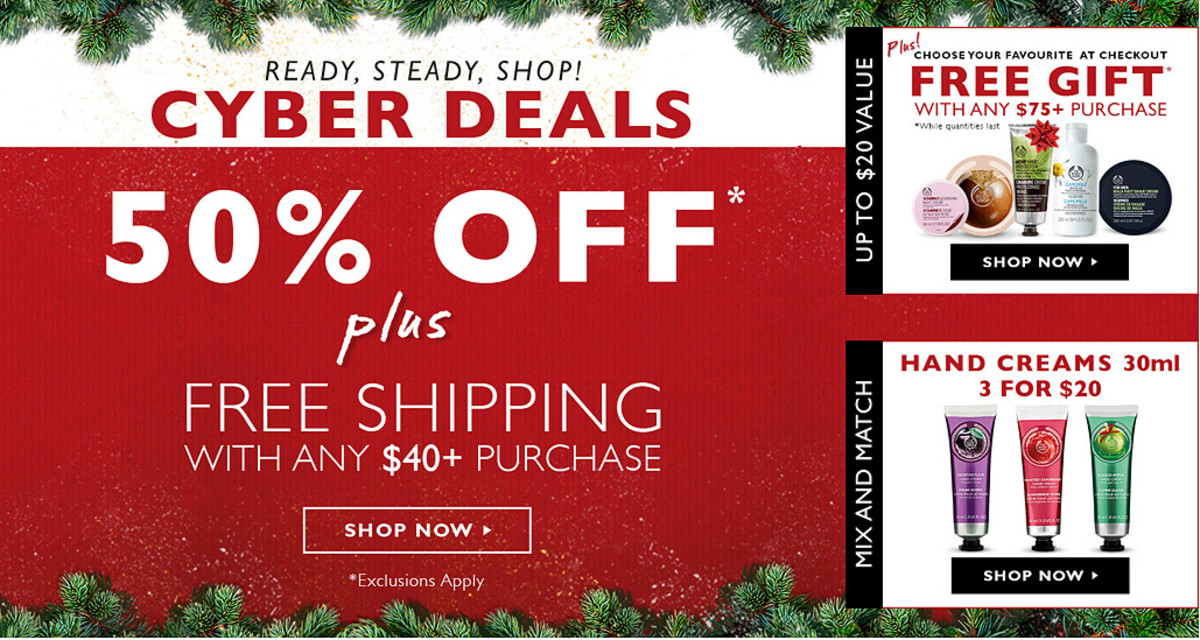 Cyber Monday beauty deals canada the body shop