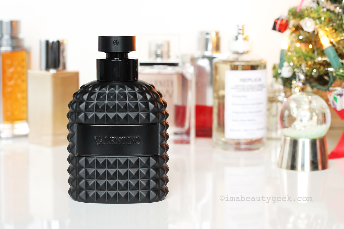 Men's fragrance gifts: Valentino Uomo Edition Noire