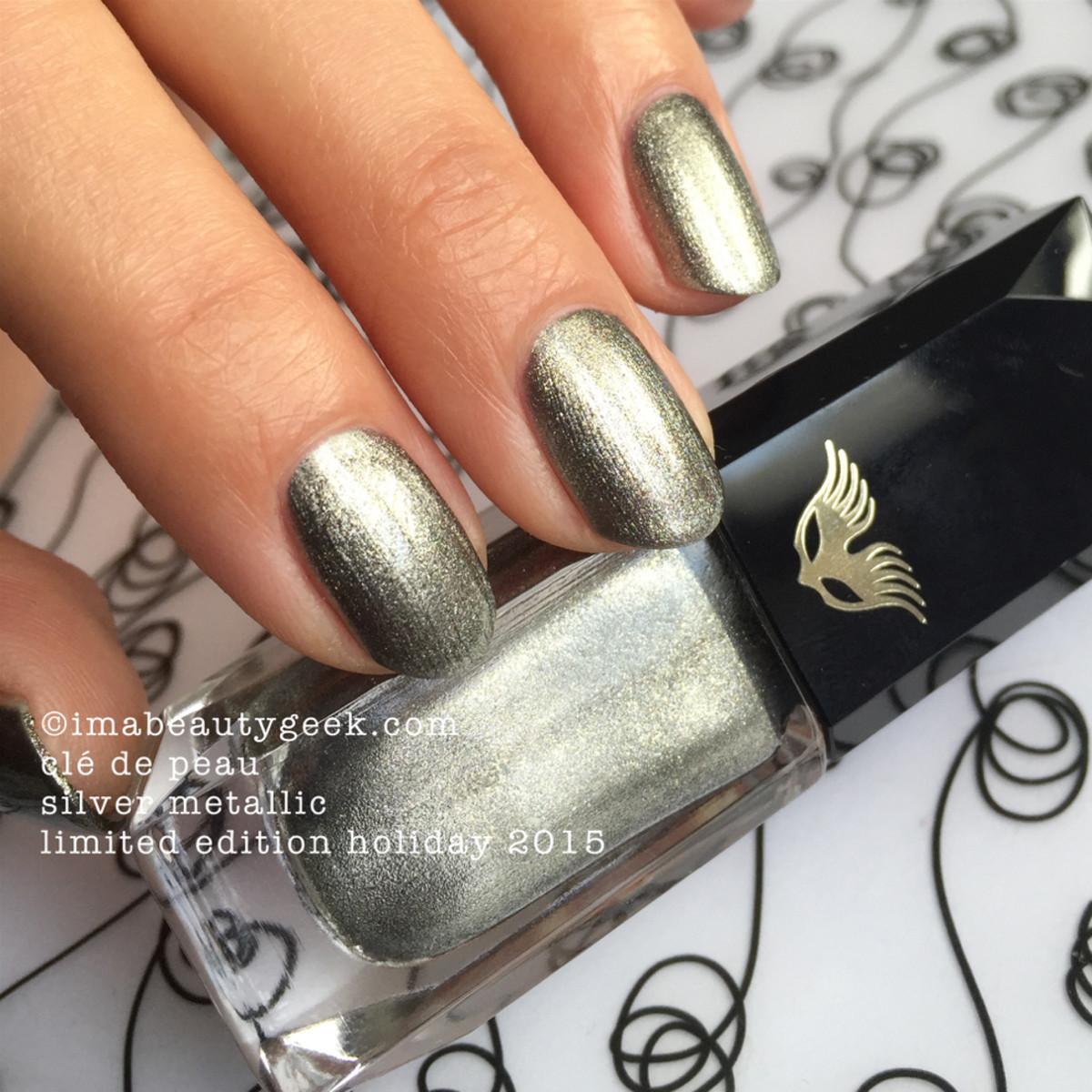 Cle de Peau Beauty Silver Metallic Nail Polish Trio Holiday 2015