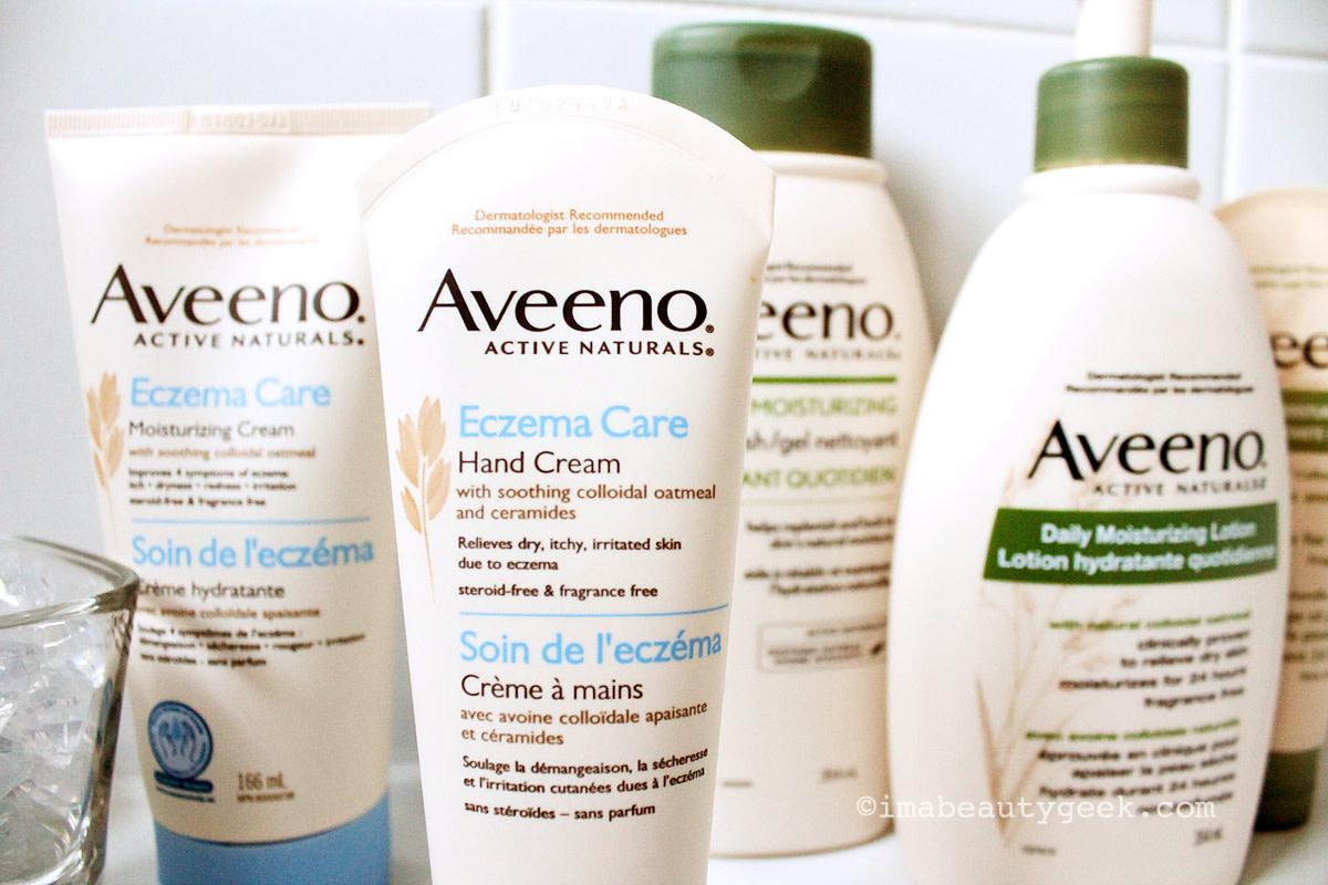 Eczema skincare: Aveeno Active Naturals Eczema Care and Aveeno Active Naturals