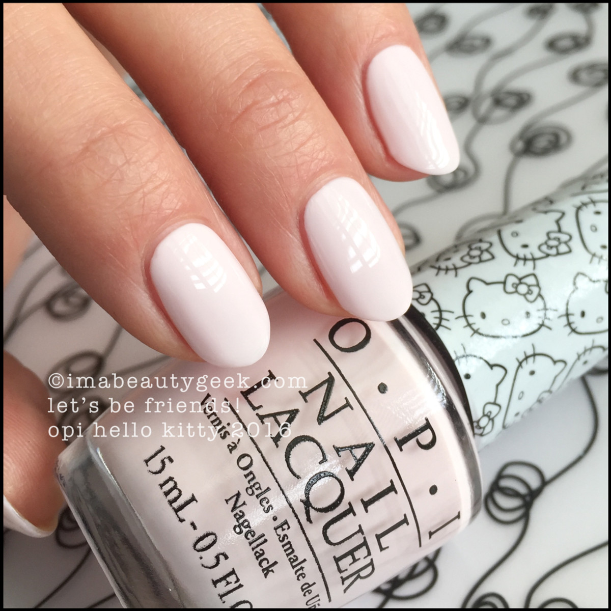 OPI Let's Be Friends_OPI Hello Kitty Collection Swatches 2016