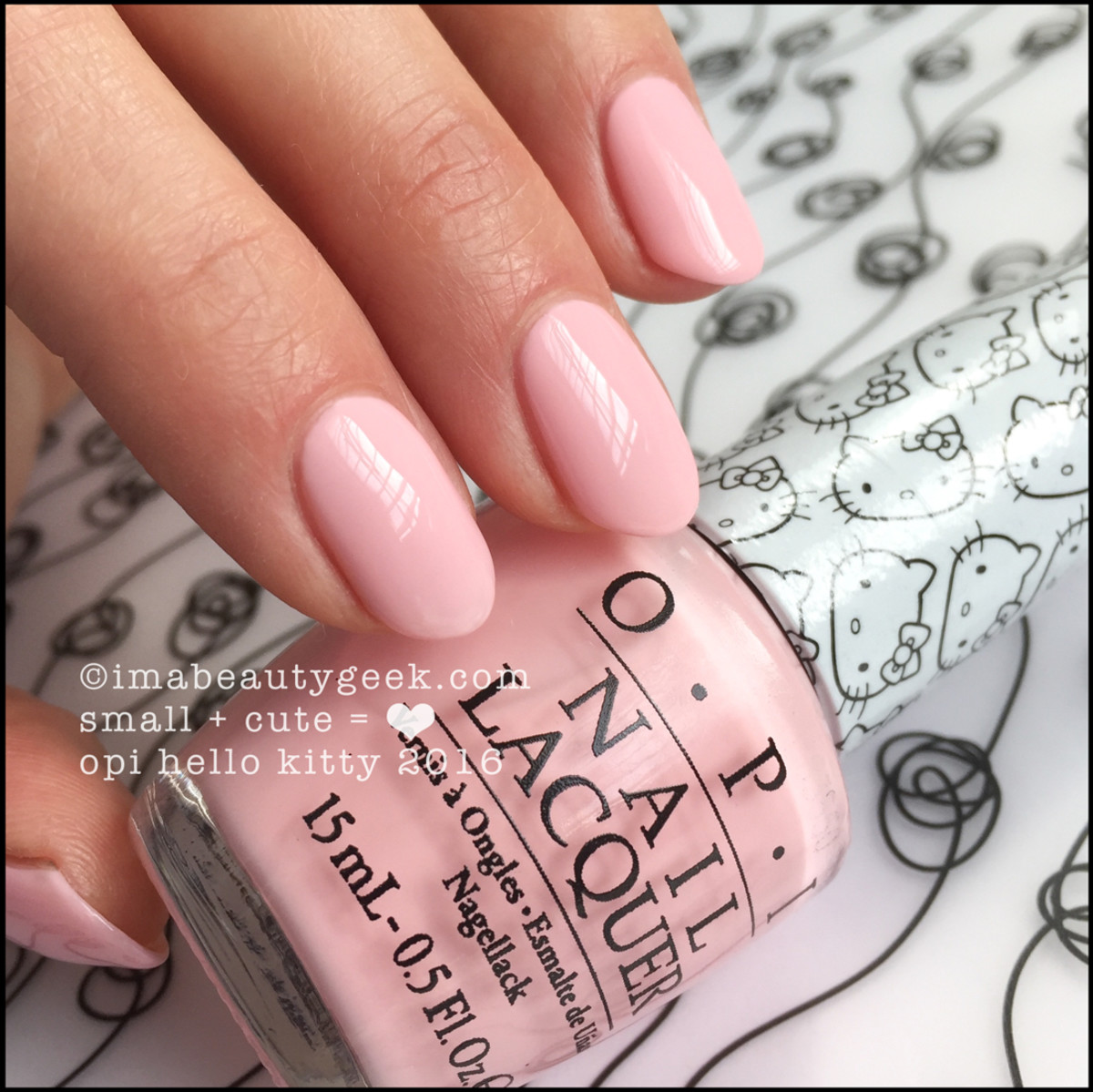 OPI Hello Kitty 2016 Collection_OPI Small plus Cute equals Heart