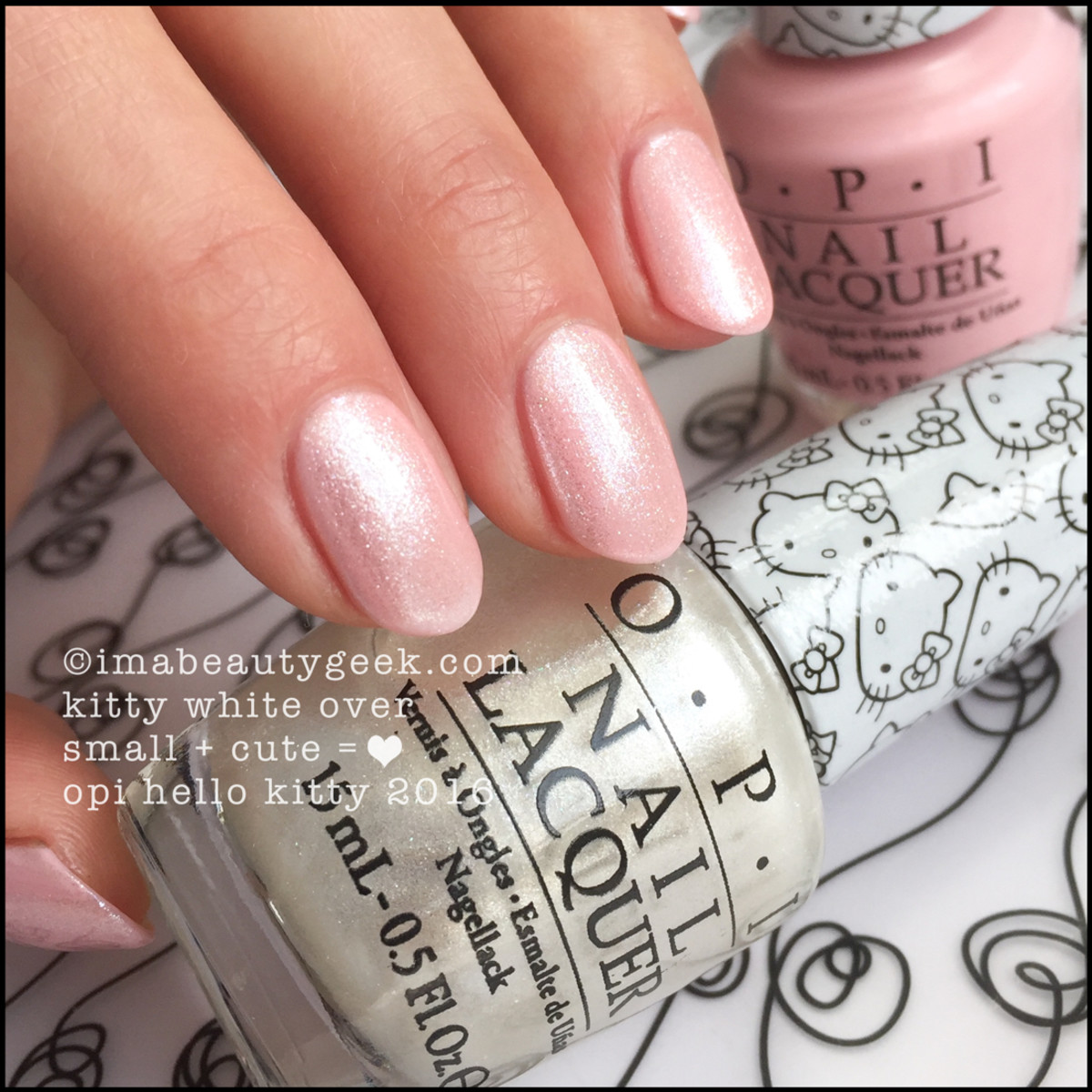 OPI Hello Kitty Collection 2016_OPI Kitty White over Small Cute Heart