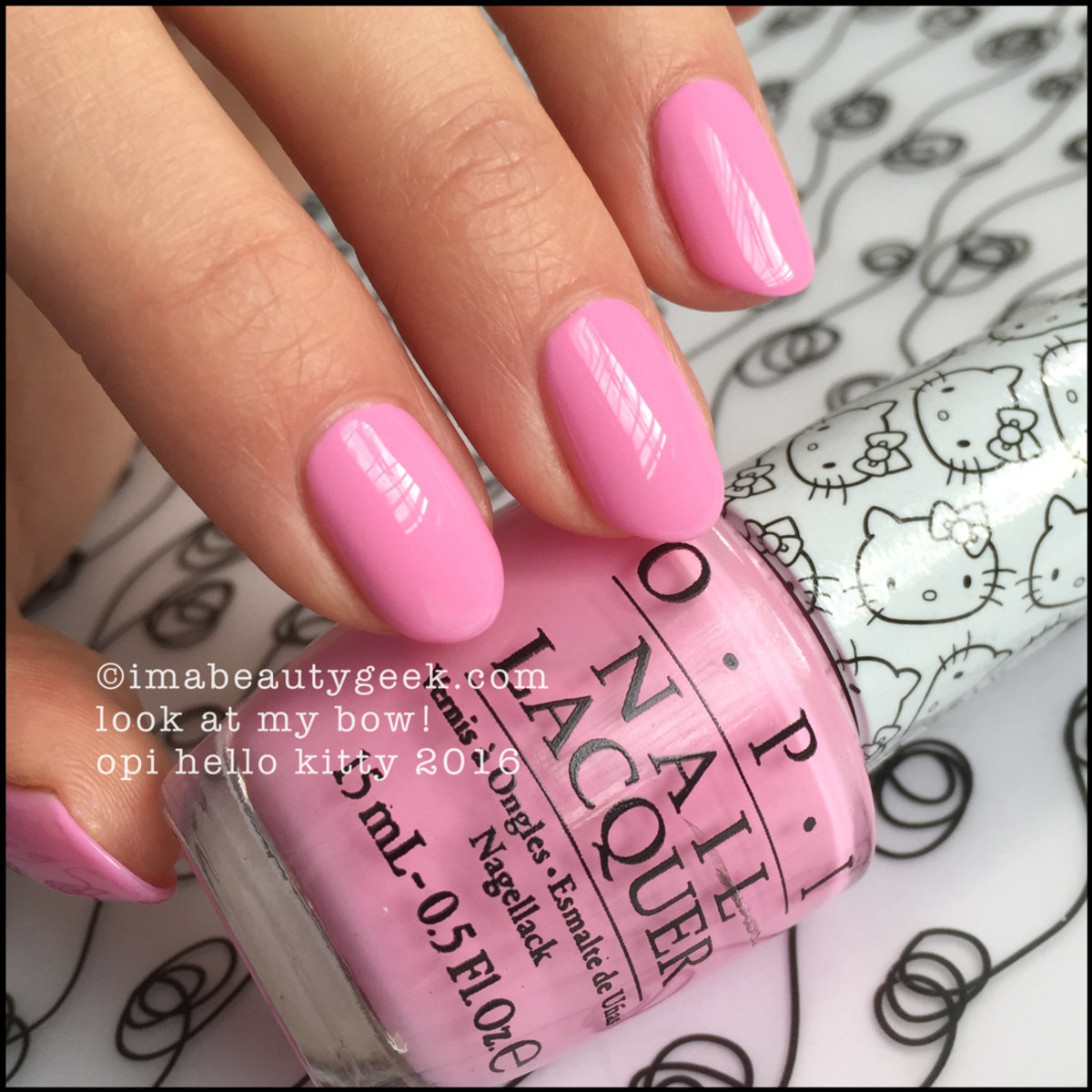 OPI Hello Kitty 2016 Collection_OPI Look at my Bow Swatches