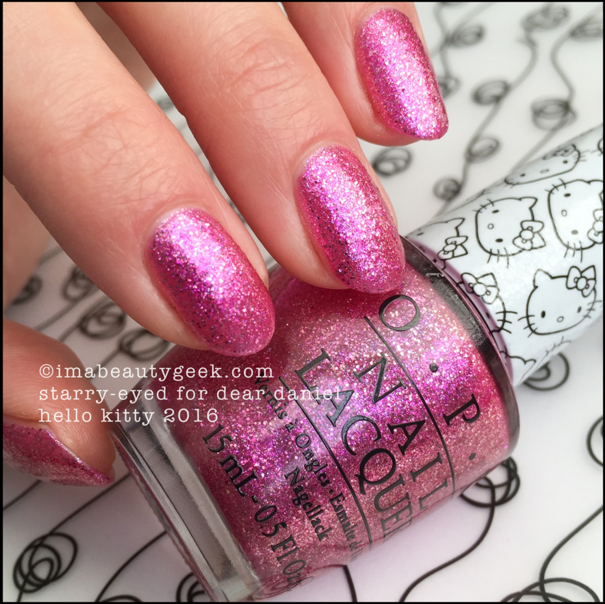 OPI Starry Eyed For Dear Daniel_OPI Hello Kitty 2016 Collection