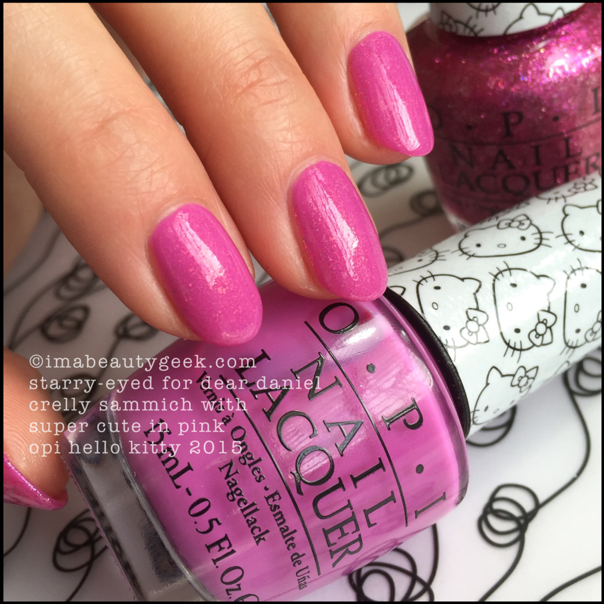 OPI Hello Kitty Swatches_OPI Super Cute in Pink Sandwich