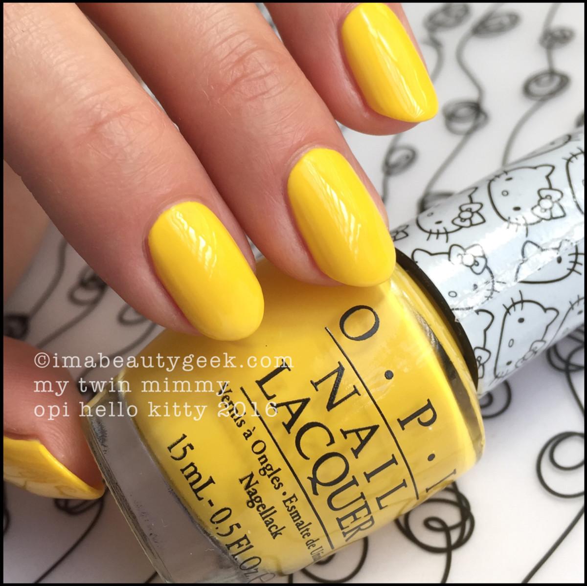 OPI Hello Kitty_OPI My Twin Mimmy Yellow