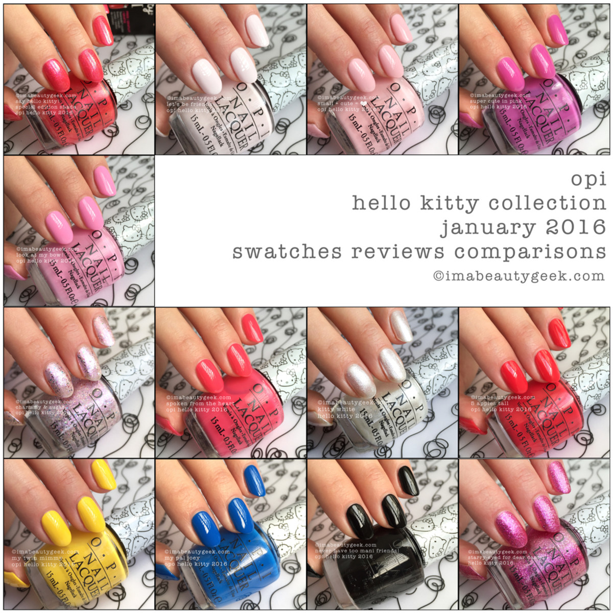 OPI Hello Kitty Manigeek Guide Composite