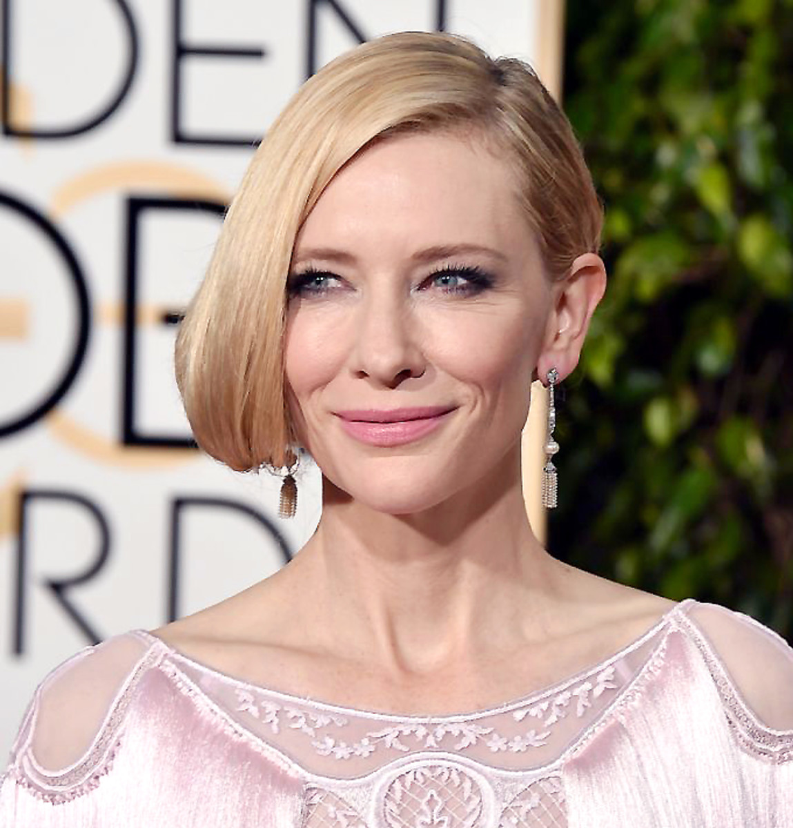 Cate Blanchett in a shimmering fringed Givenchy gown at the 2016 Golden Globes