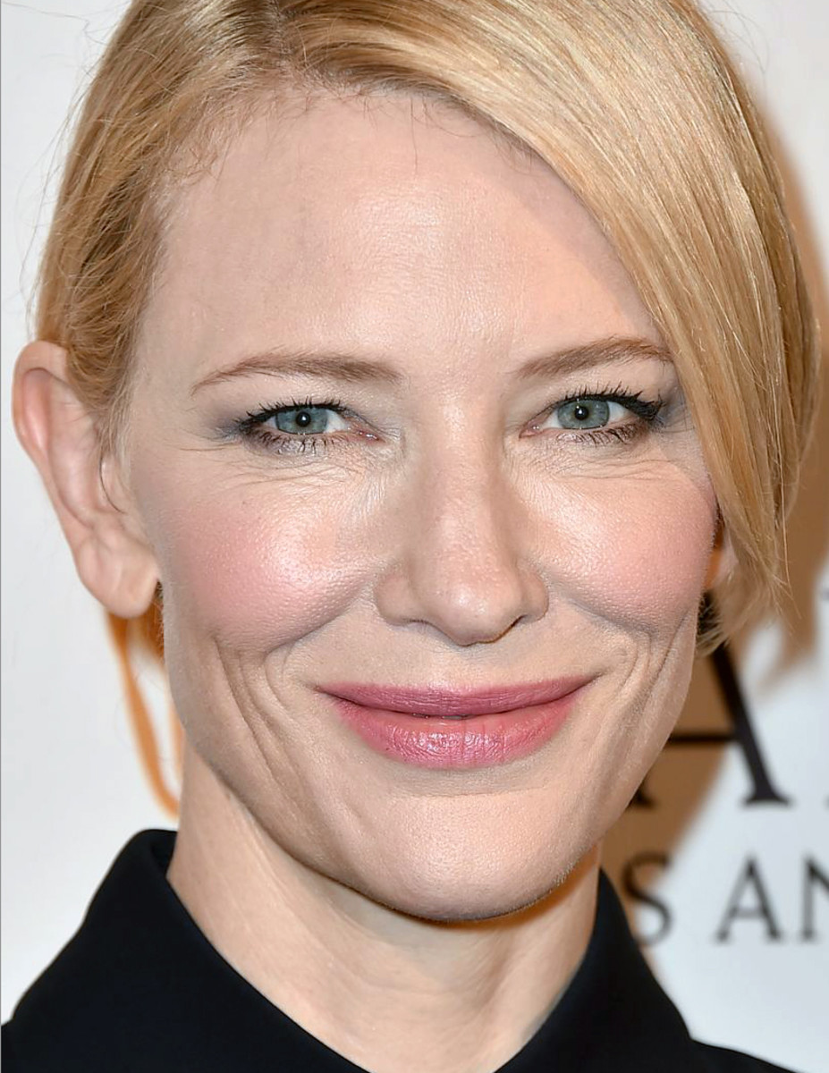 Cate Blanchett has hooded eyes – and makeup that totally works with that structure.