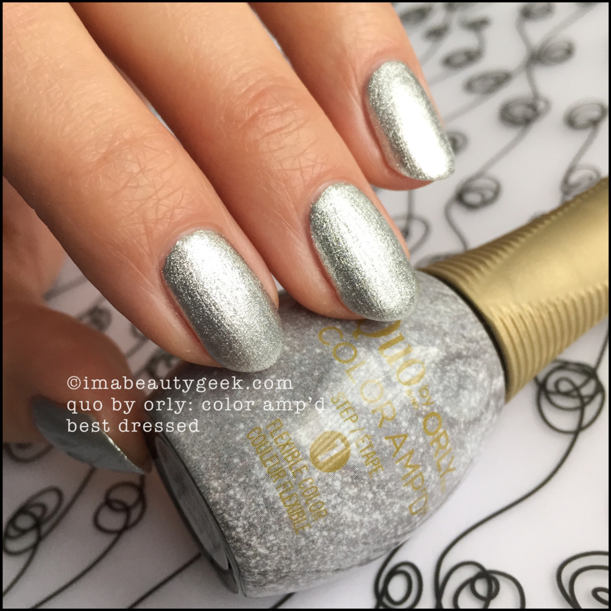 Quo Color Ampd Best Dressed_Orly Epix Silver Screen Swatch