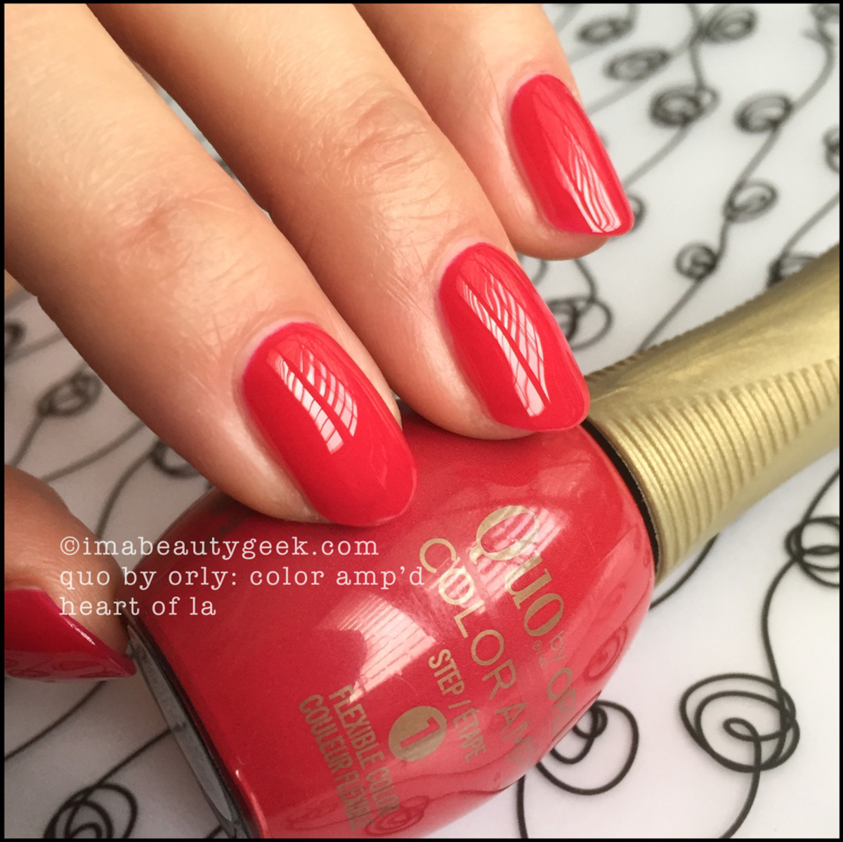 Quo Color Ampd Heart of La_Quo by Orly Epix Swatches