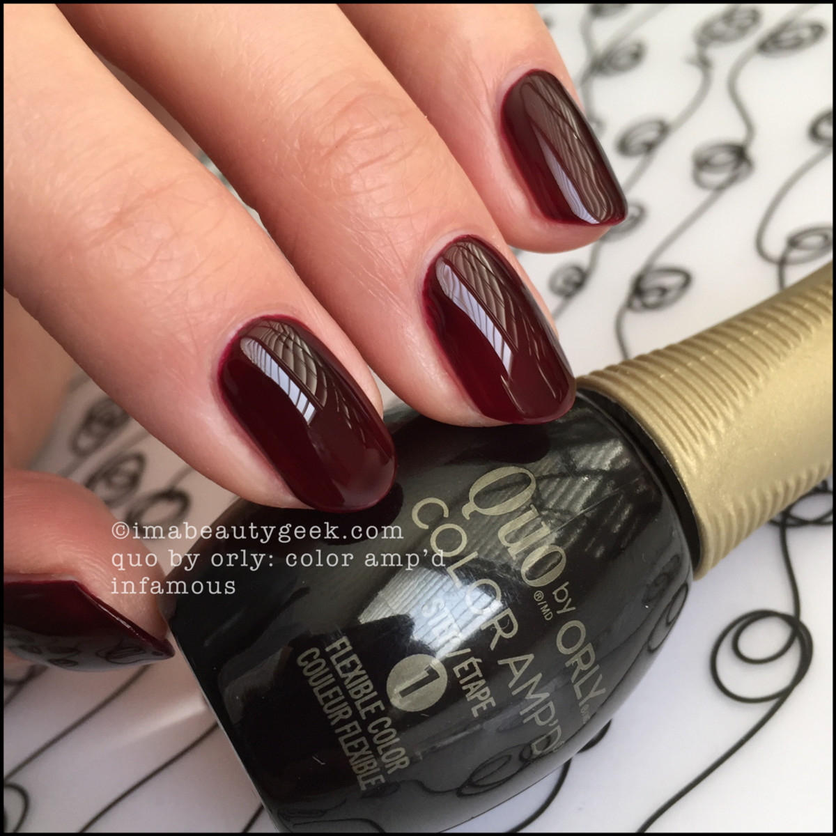 Quo Color Ampd Infamous_Quo by Orly Epix Swatches