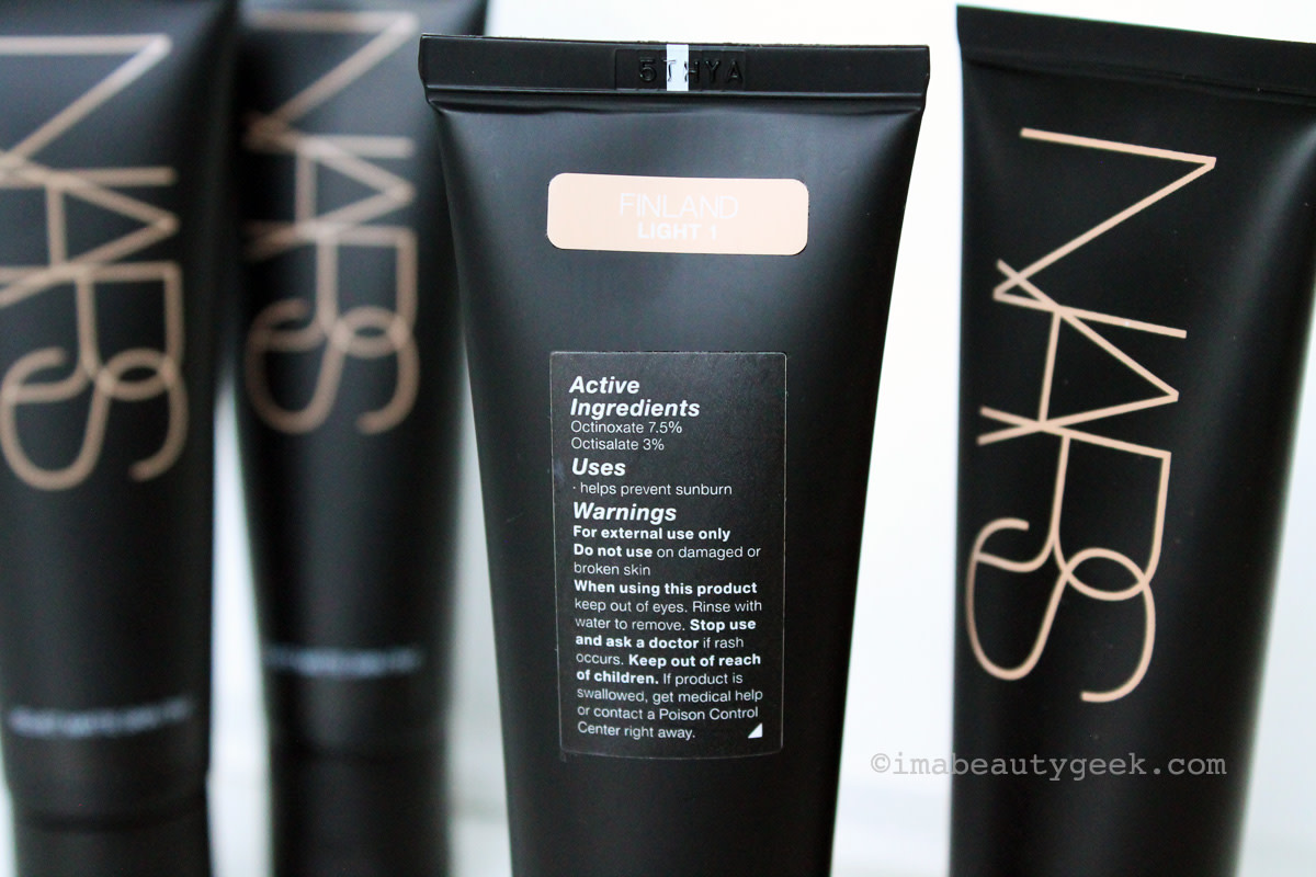 NARS Velvet Matte Skin Tint – just in case you're sensitive to these sunscreen ingredients