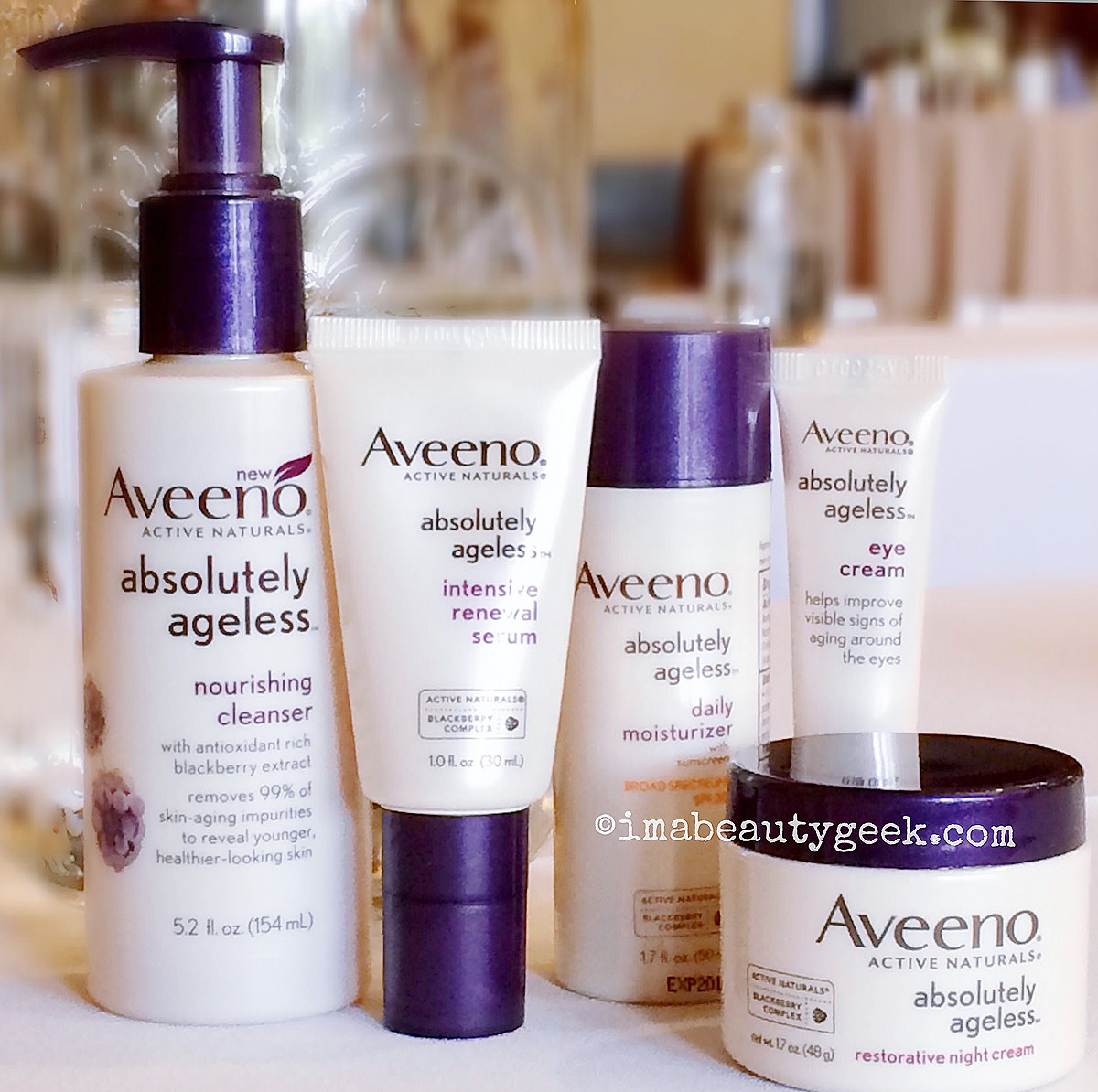 Aveeno Absolutely Ageless skincare_elastin