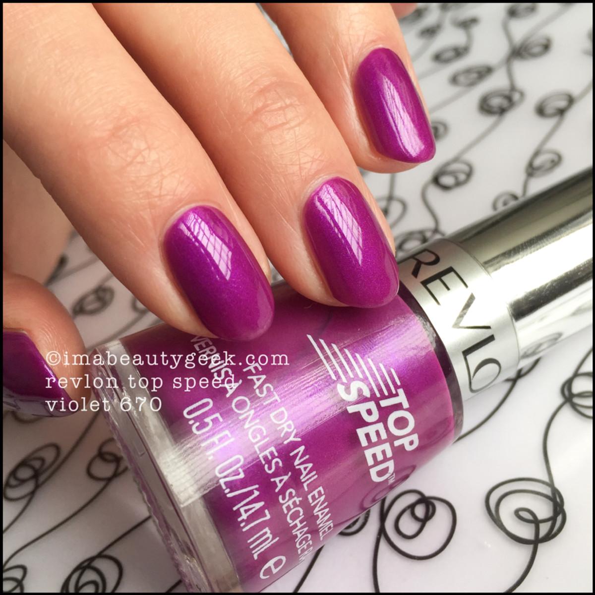 Revlon Violet Nail Polish 670_Revlon Top Speed Nail Enamel
