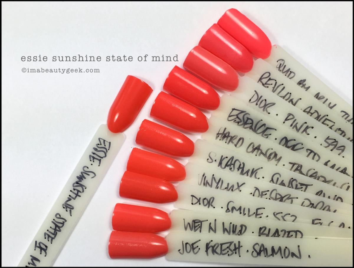 Essie Sunshine State of Mind Comparison Dupes_Essie Spring 2016 Review
