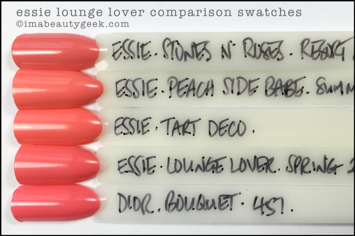 Essie Lounge Lover Comparison Swatches_Essie Spring 2016 Dupes