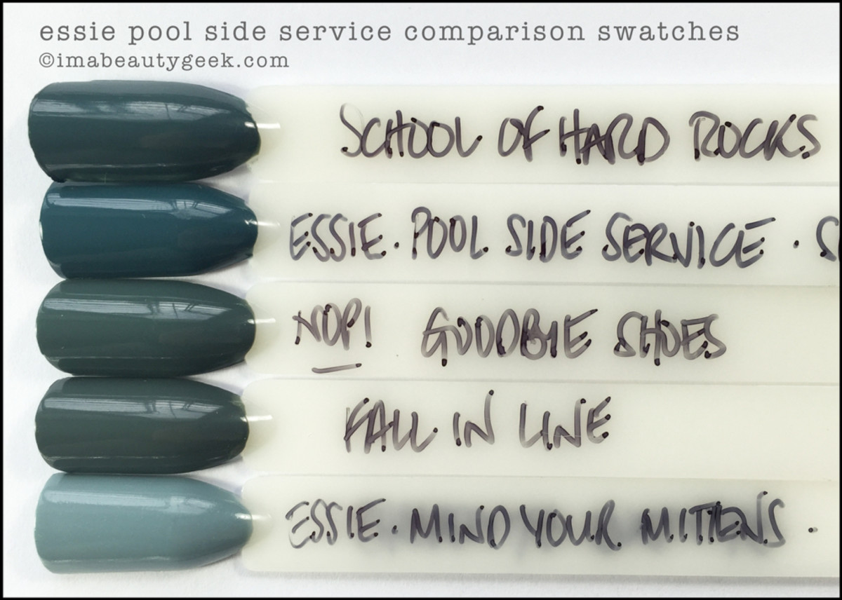 Essie Pool Side Service Comparison Dupe_Essie Spring 2016 Swatches Review