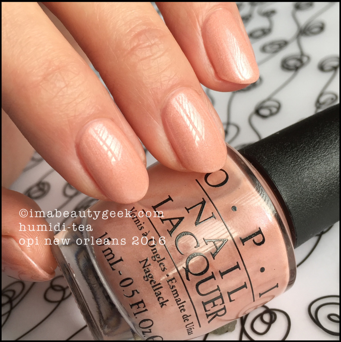 OPI Humidi-Tea_OPI New Orleans Collection Swatches Review 2016