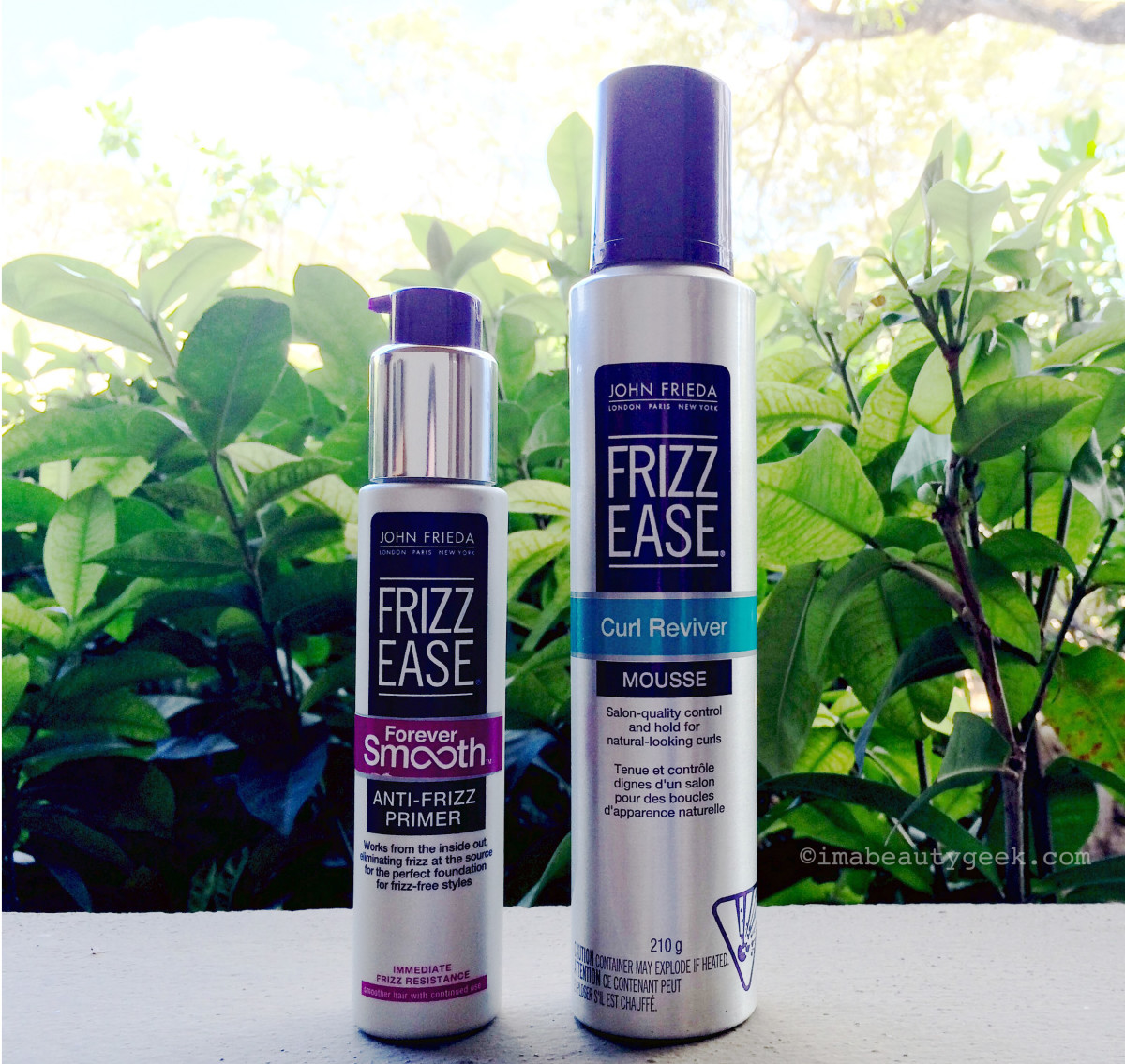 John Frieda Frizz Ease Forever Smooth Anti-Frizz Primer and Curl Reviver Mousse