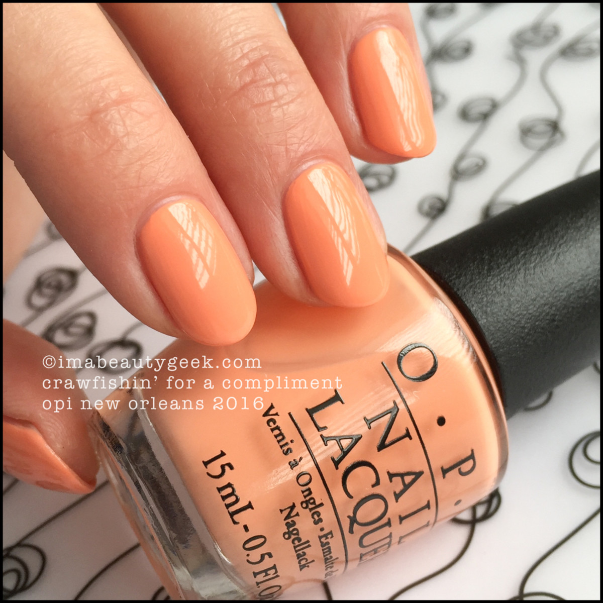 OPI Crawfishin For A Compliment_OPI New Orleans Swatches Review