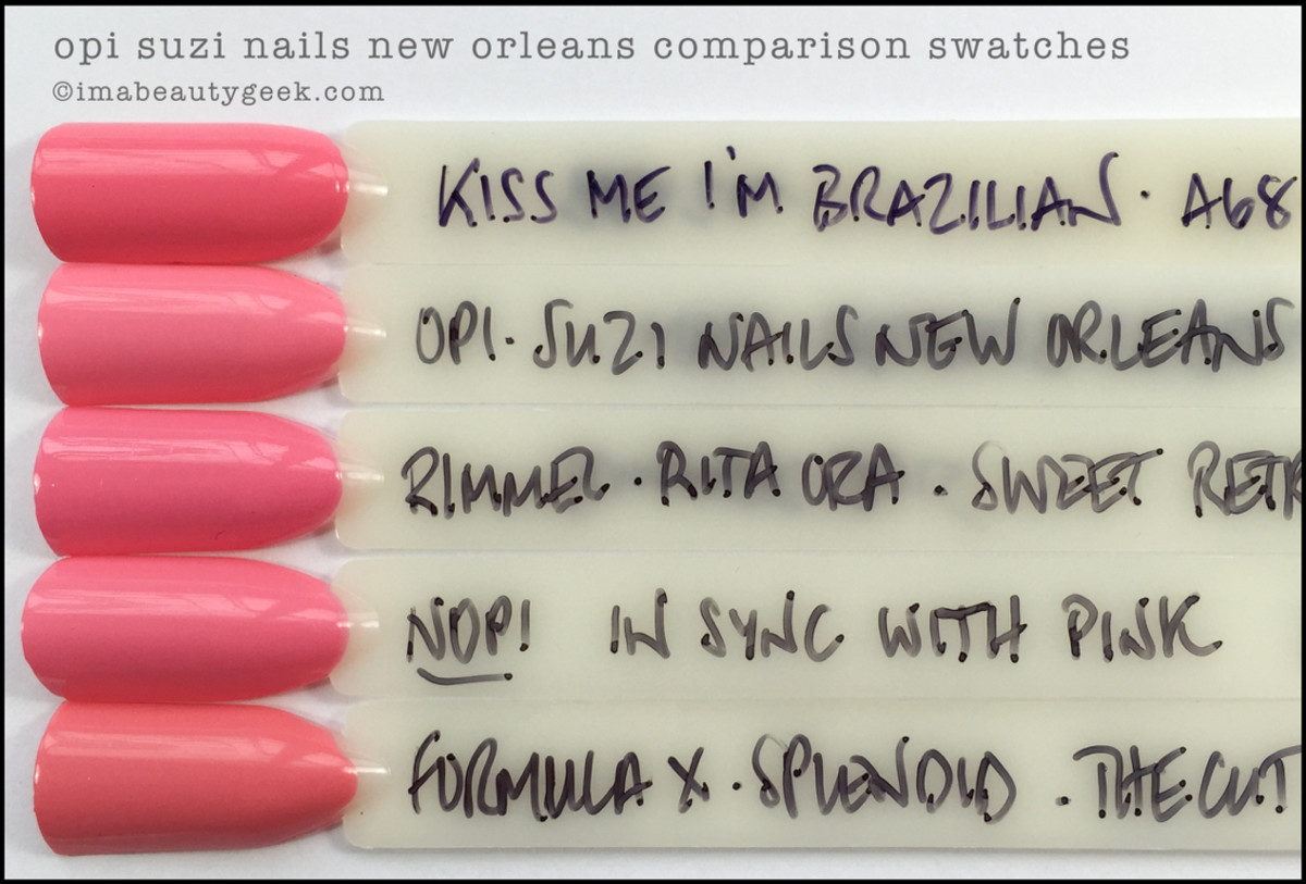 OPI Suzi Nails New Orleans Comparison Dupe_OPI New Orleans Collection Review
