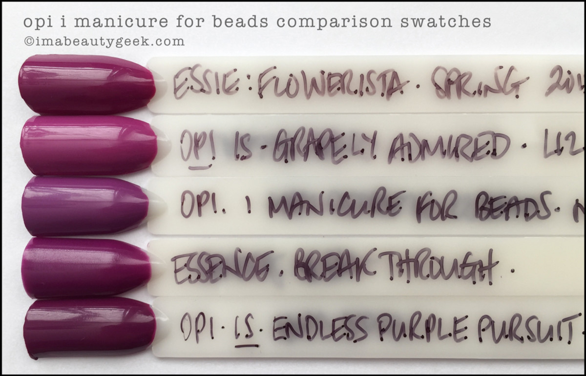 OPI I Manicure For Beads Comparison Dupe Swatches_OPI New Orleans 2016