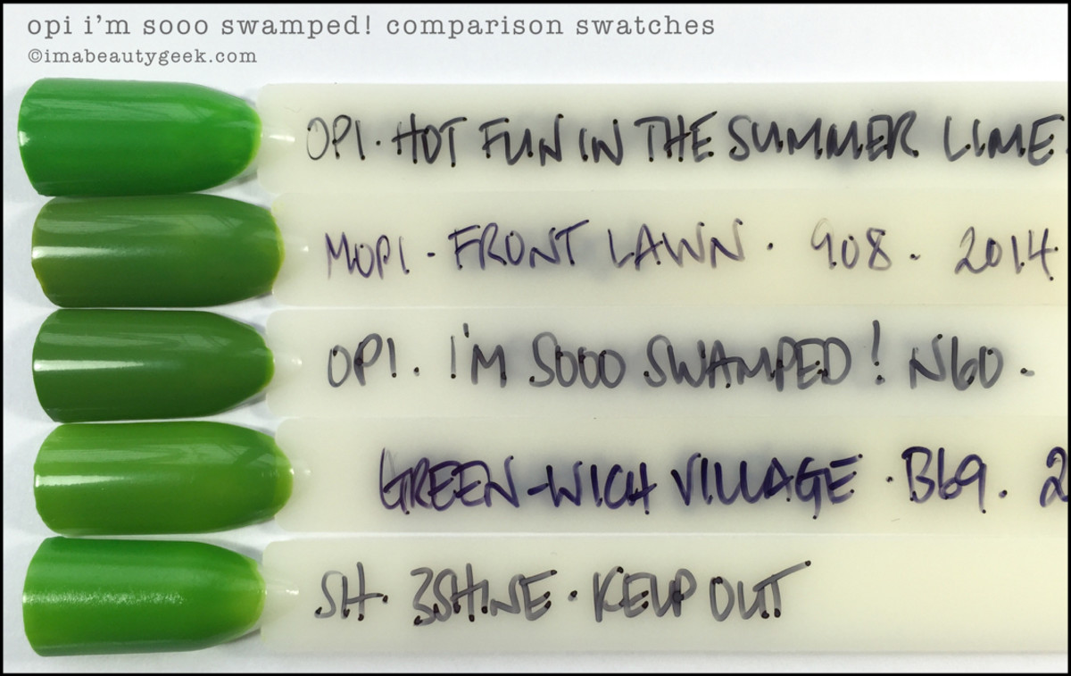 OPI Im Sooo Swamped Comparison Swatches_OPI New Orleans Review 2016