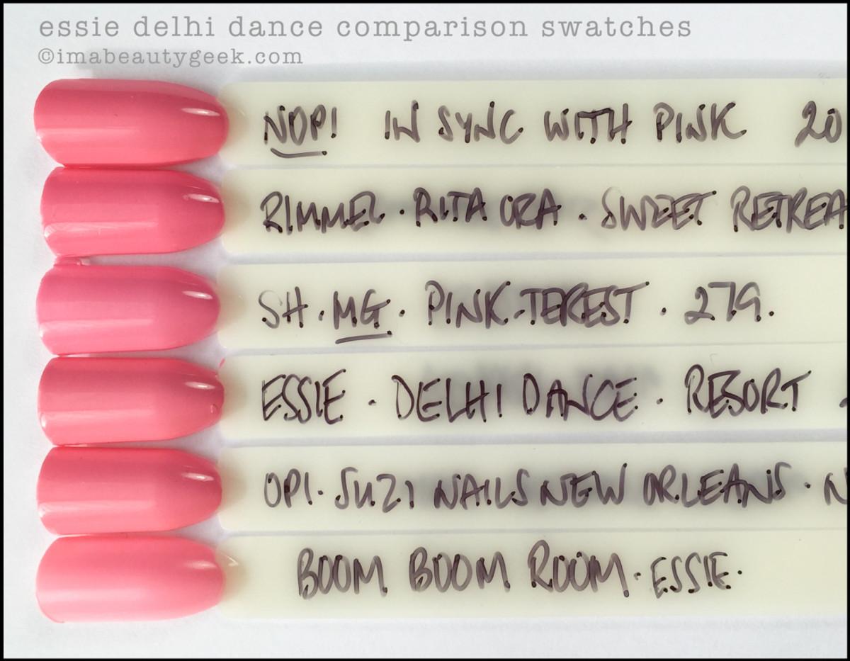 Essie Delhi Dance Comparison Dupes_Essie Resort 2016 Swatches Review