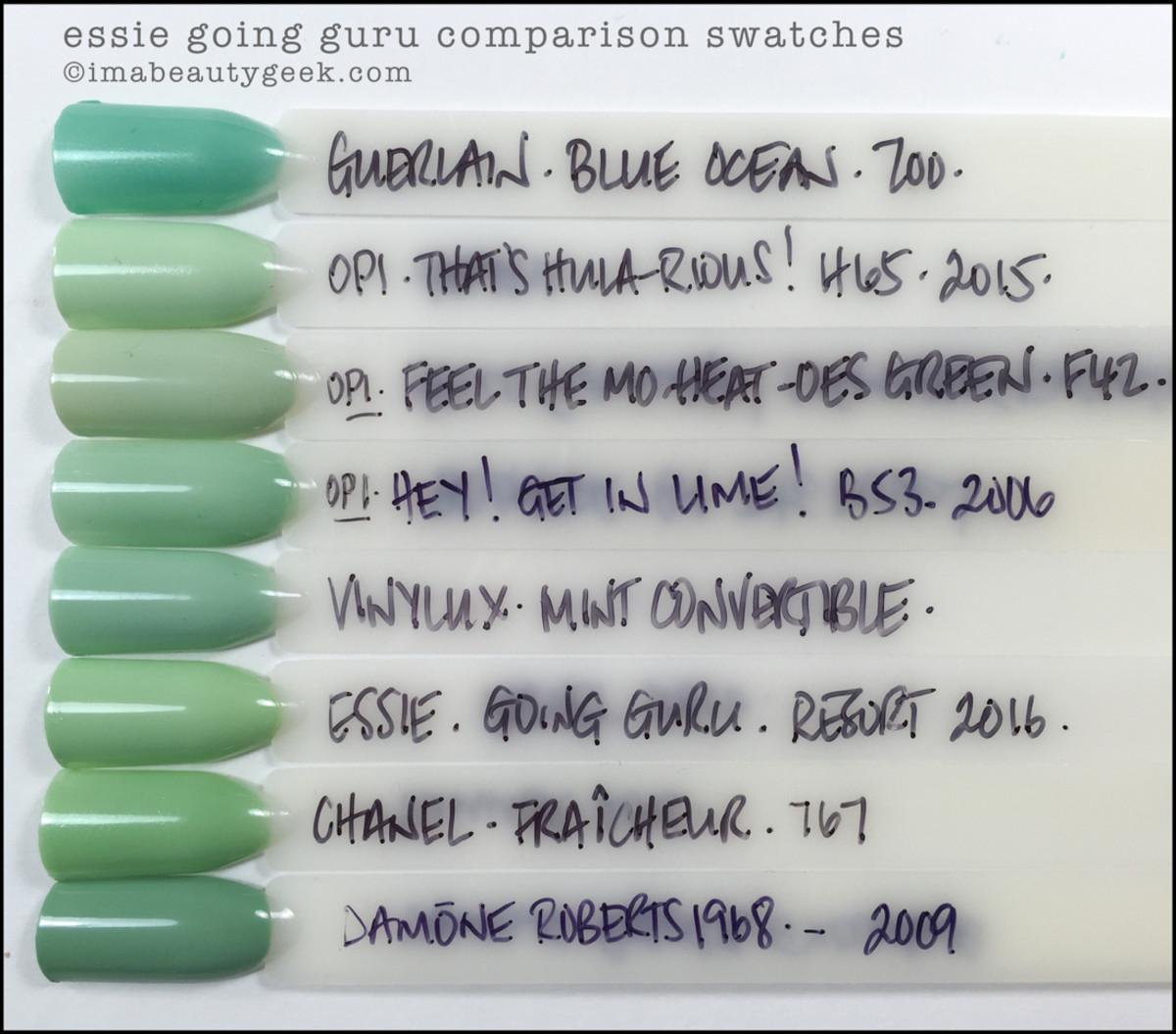 Essie Going Guru Comparison Dupes_Essie Resort 2016
