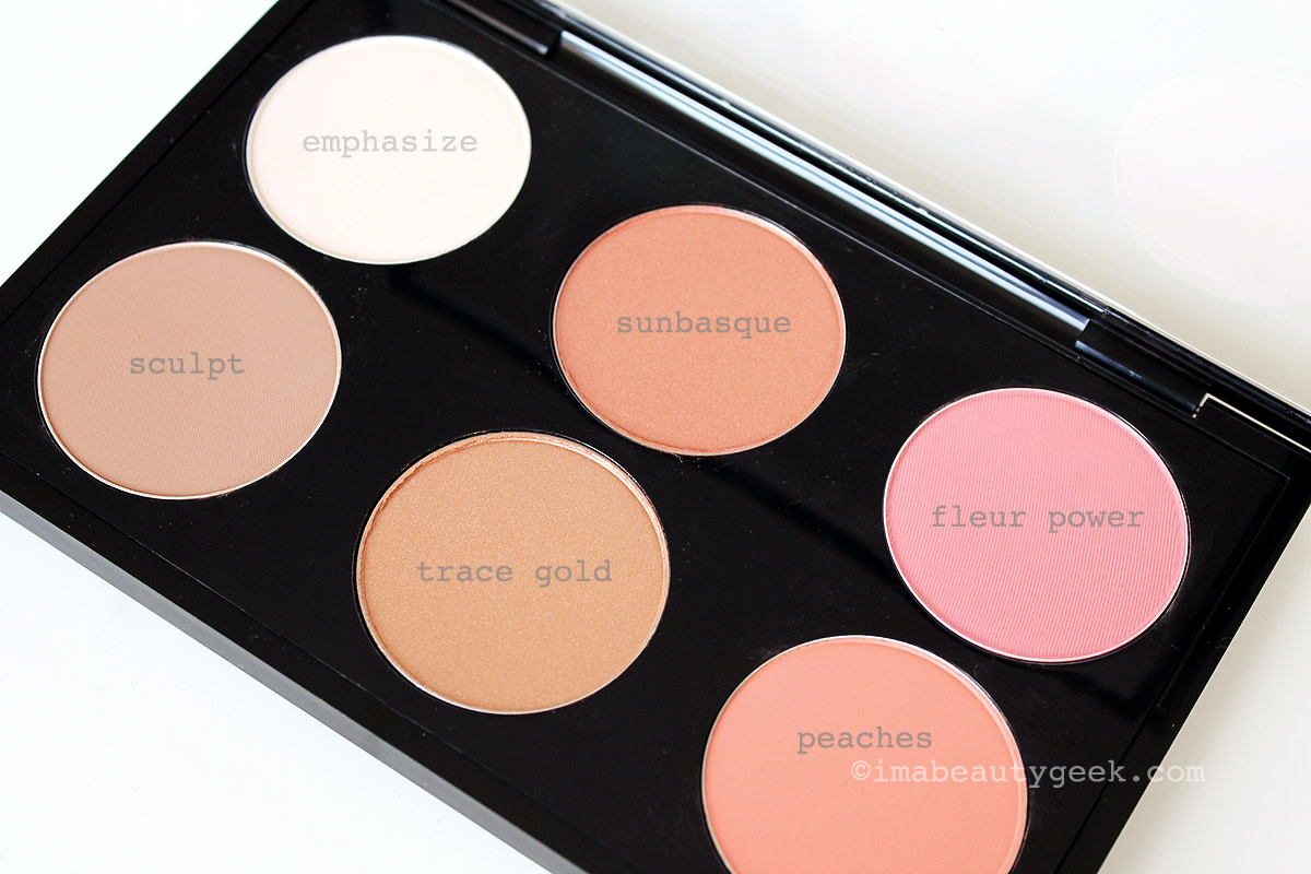 MAC Contour & Sculpt Yourself Palette shades