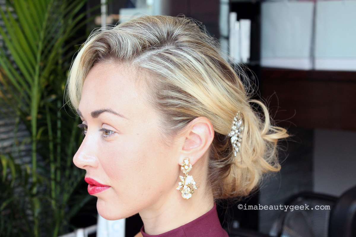 How-to: A one-minute up-do on Cheryl Willberg, courtesy of celebrity hairstylist Darrell Redleaf