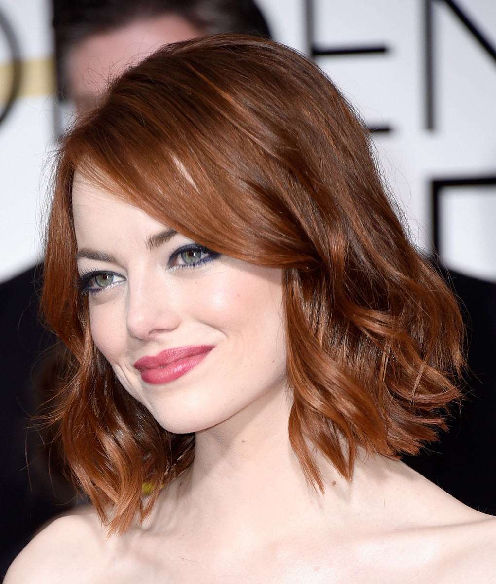 how to create textured waves: Emma Stone inspiration