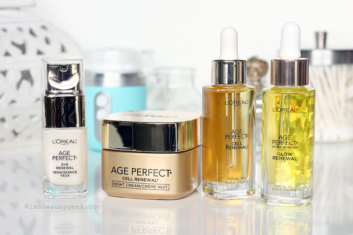 L'Oreal Paris Age Perfect skincare for mature skin