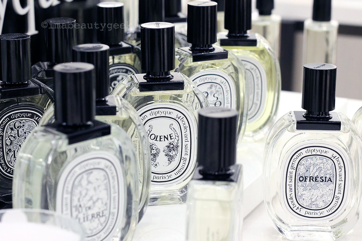 Diptyque fragrances at Saks Eaton Centre, Queen St. W. entrance.