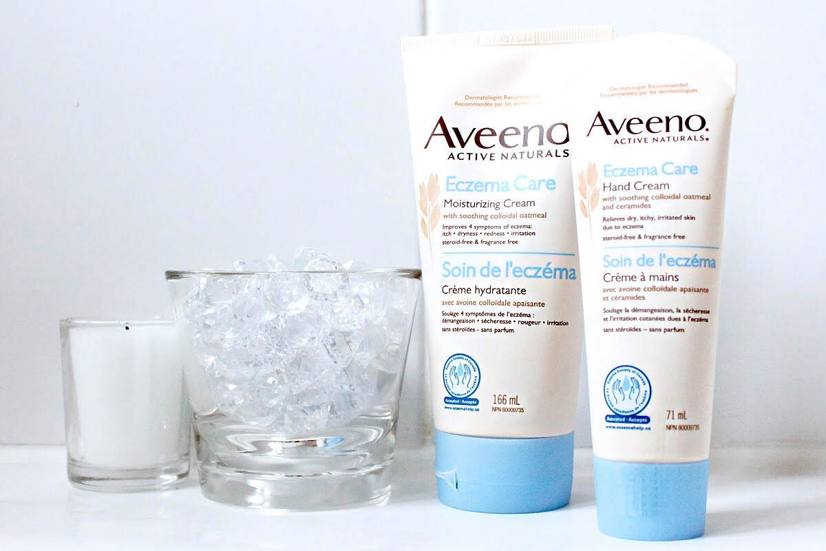 Eczema skincare: Aveeno Eczema Care soothes, moisturizes and protects with colloidal oatmeal, ceramides and conditioning agents that attract water to the skin.