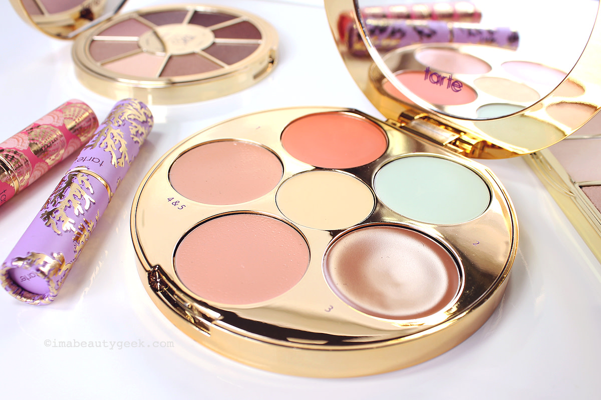 Tarte Rainforest of the Sea Wipeout Color-Correcting Palette, Quench Lip Rescue tints, Eyeshadow Palette and Twinkle Lighting Palette (at sephora.ca) www.imabeautygeek.com