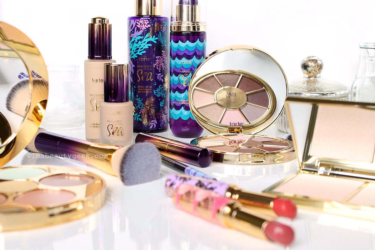 Tarte Rainforest of the Sea makeup and skincare