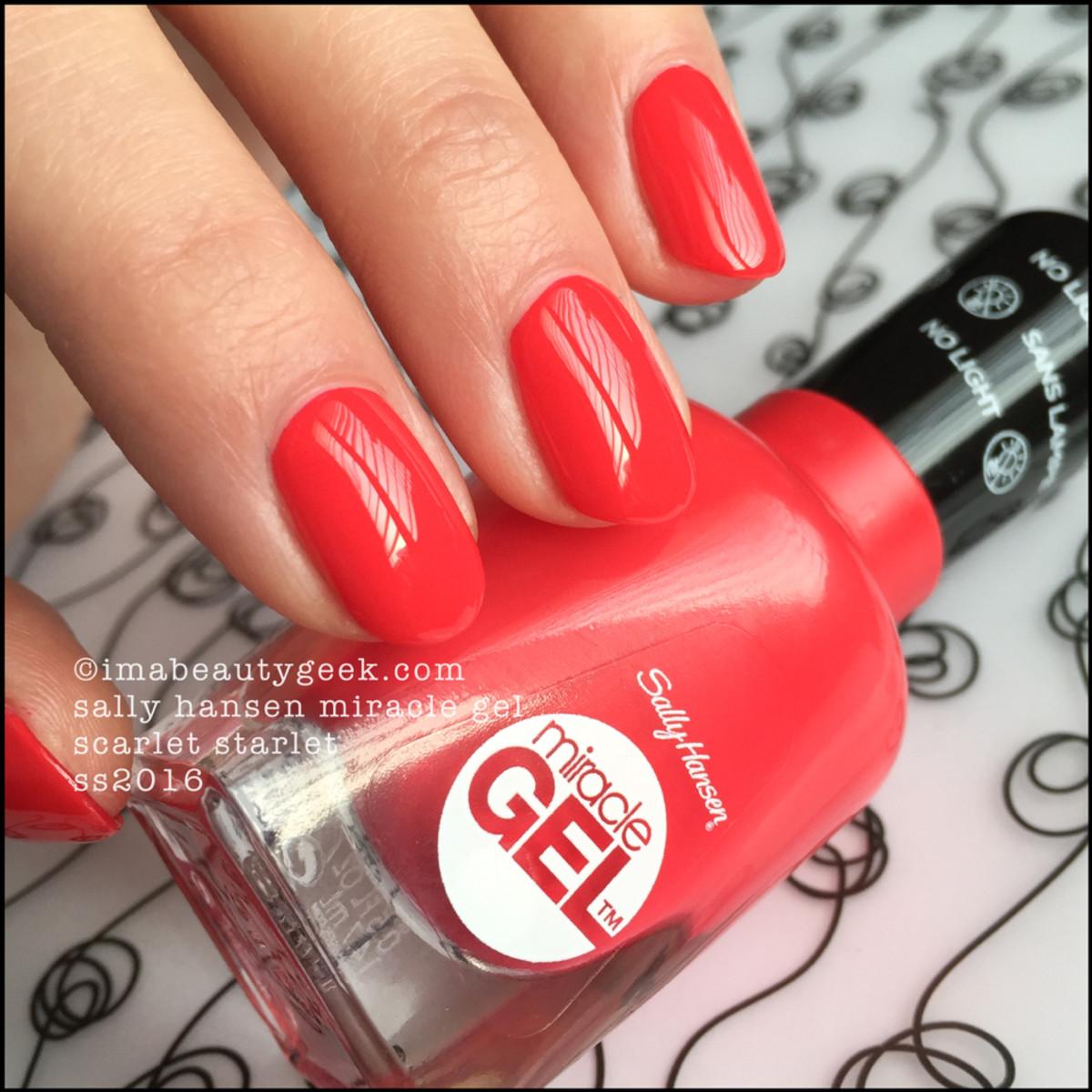 Sally Hansen Miracle Gel Scarlet Starlet_Miracle Gel Swatches