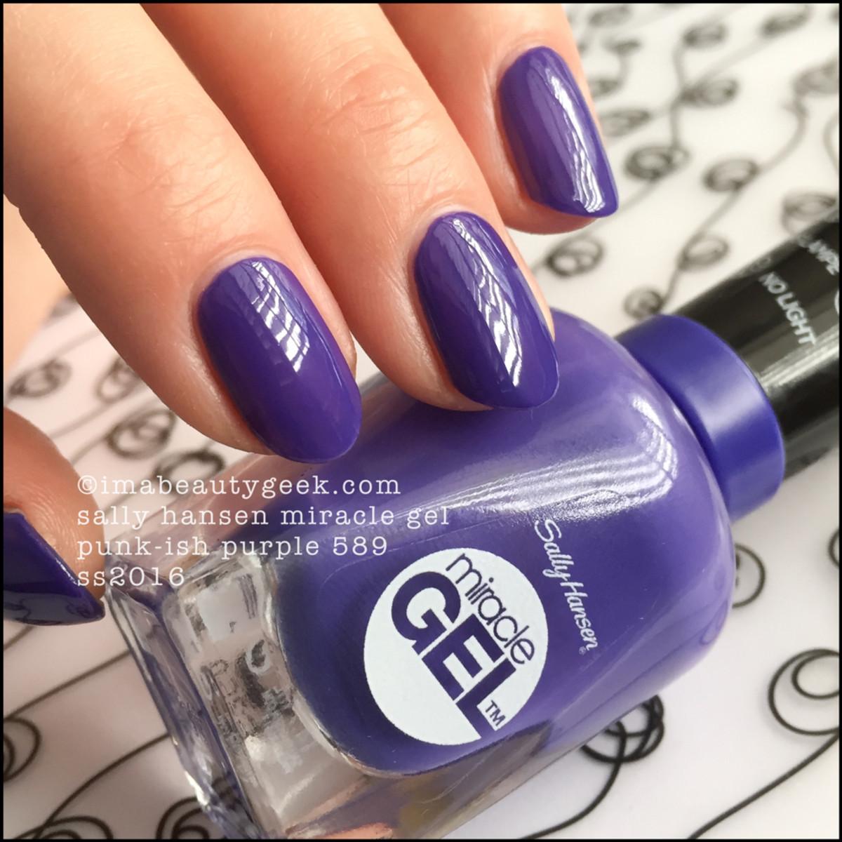 Sally Hansen Punkish Purple_Sally Hansen Miracle Gel Swatches