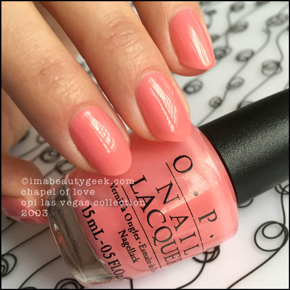 OPI Chapel of Love Swatch_OPI Las Vegas Collection 2003